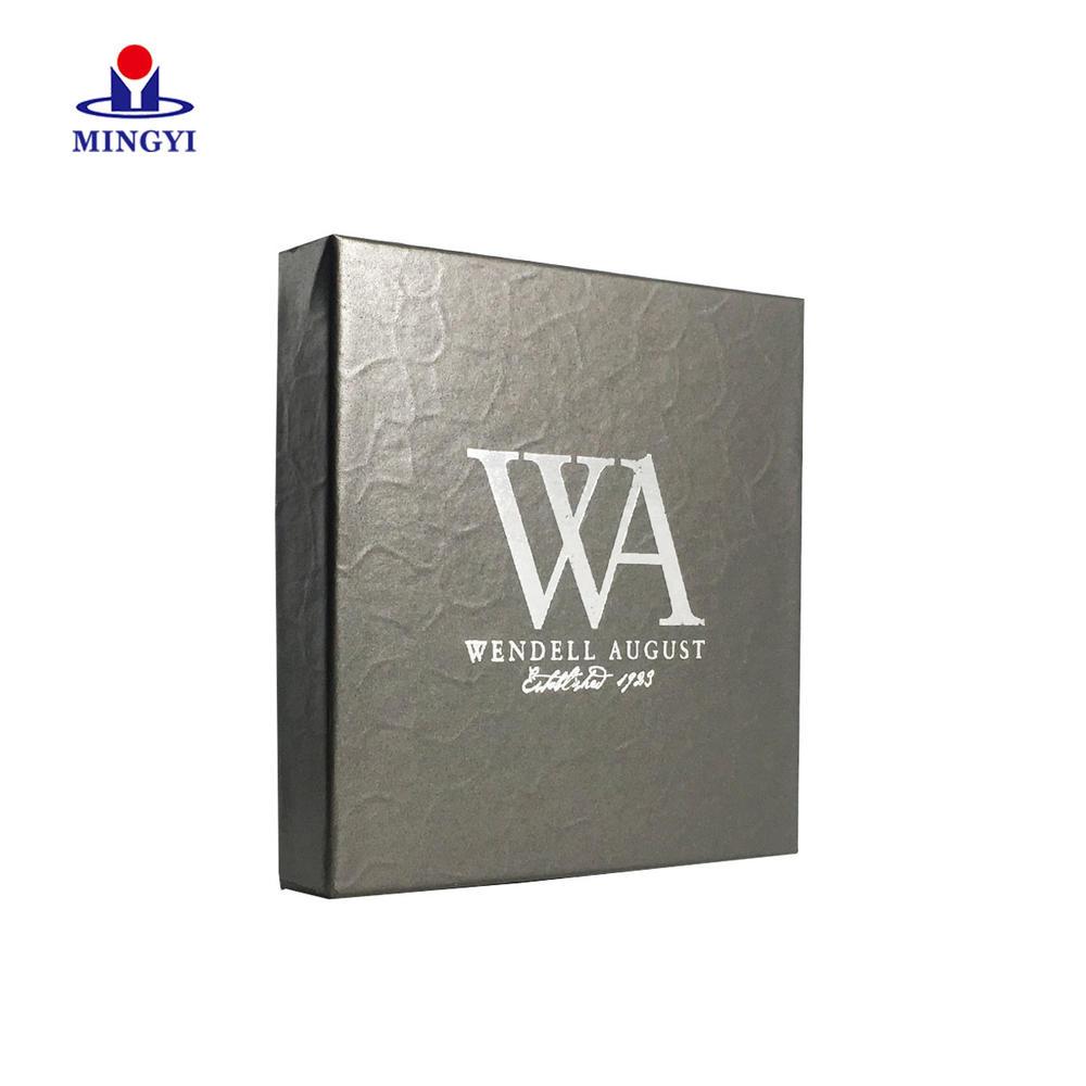 Custom black card paper Marijana packaging box with lid high quality paper