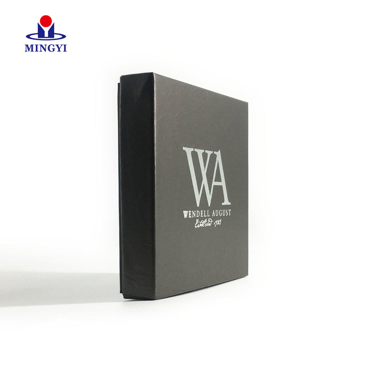 Custom black card paper Marijana packaging box with lid high quality paper