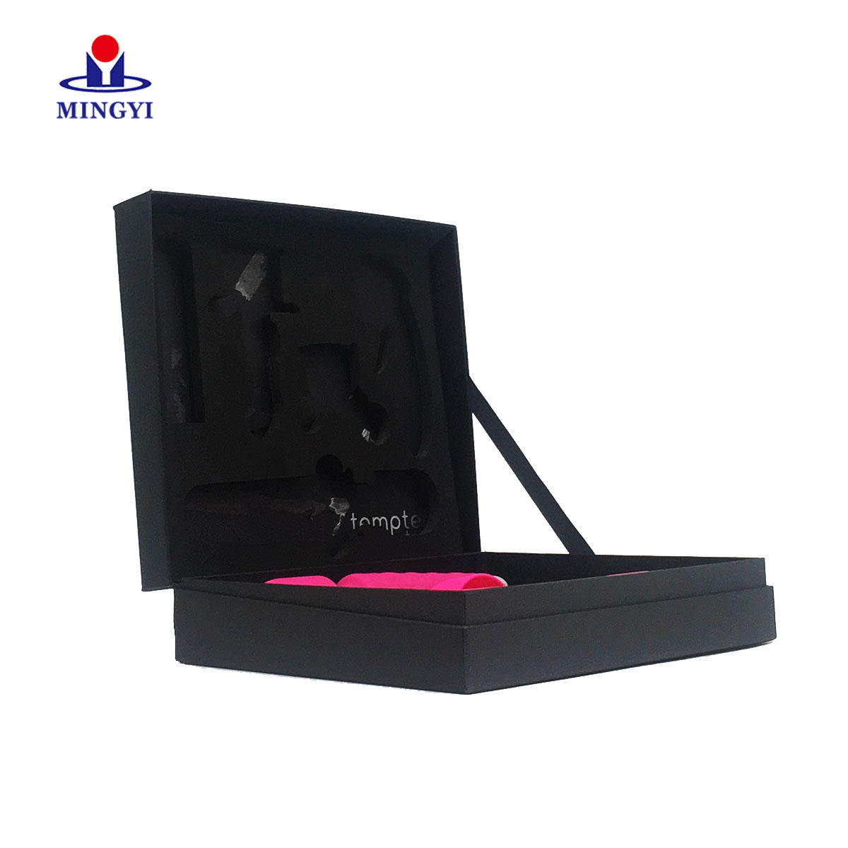 Customized sex toy cardboard packaging box with calmshell structure