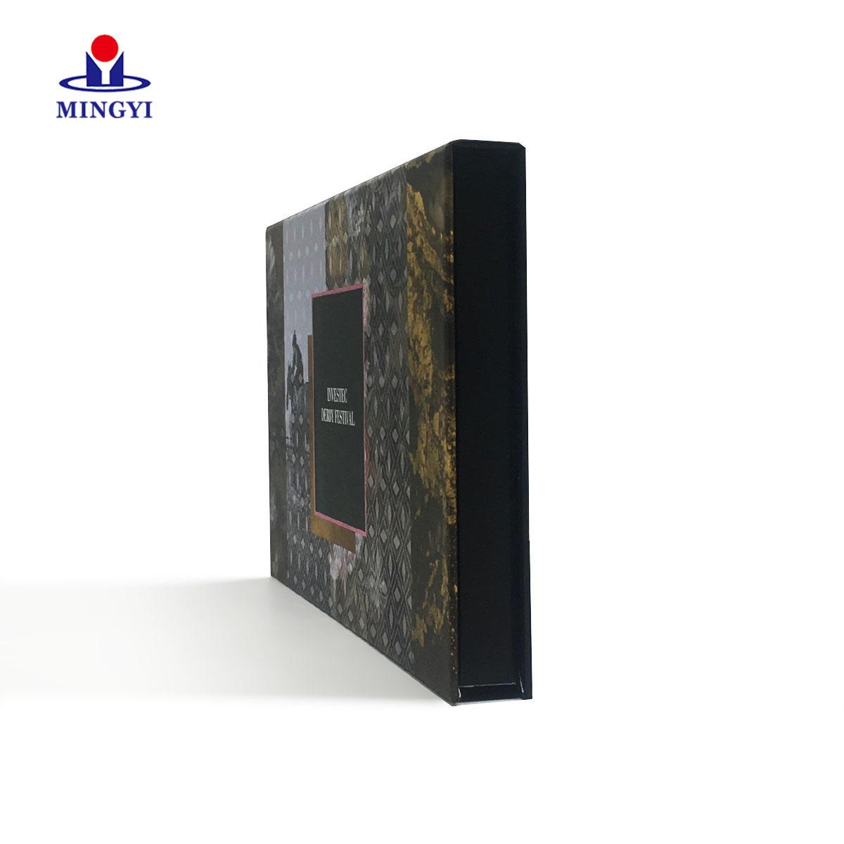 Customized luxury invitation box book-shape structure