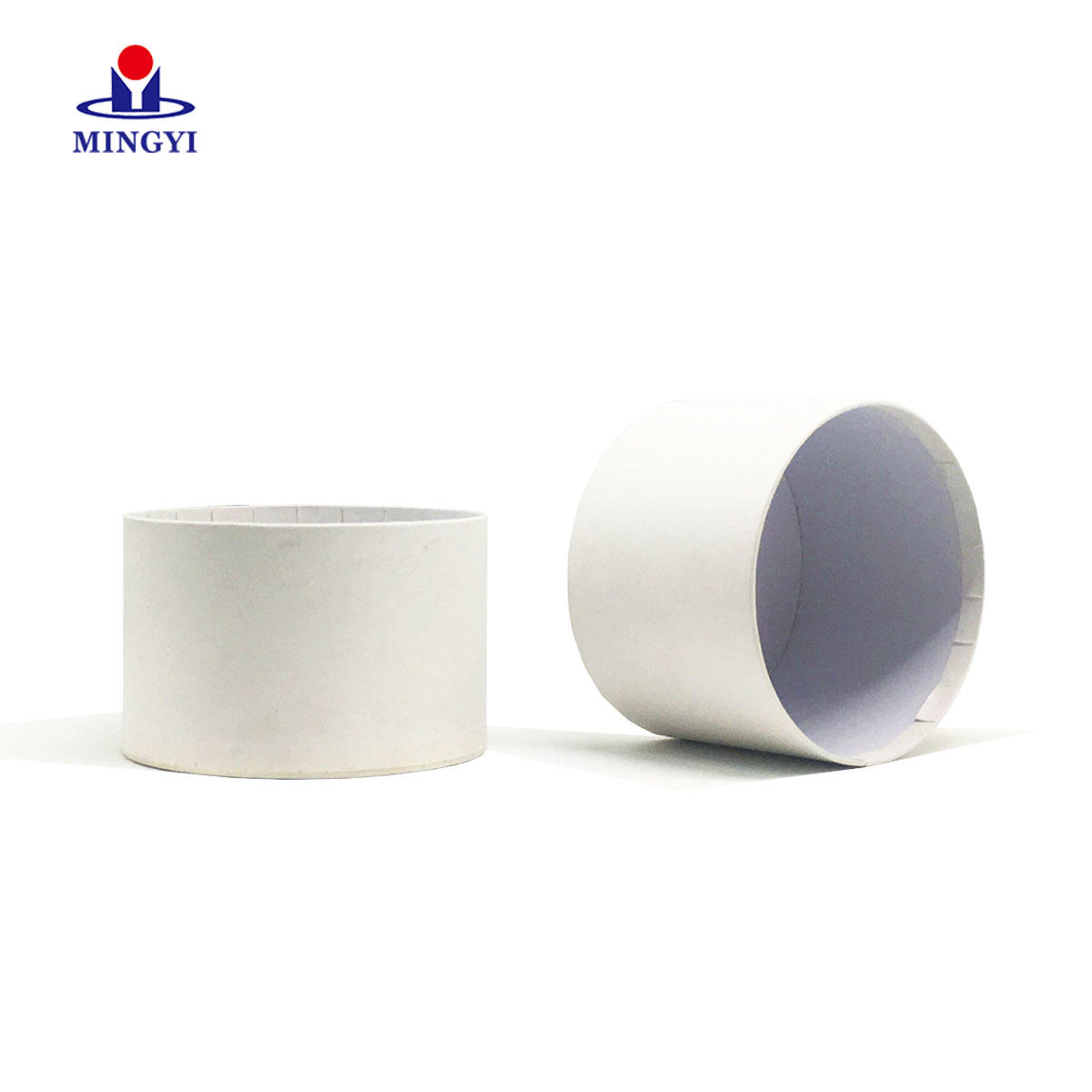 White paper card round box custom logo base and lid sturcture