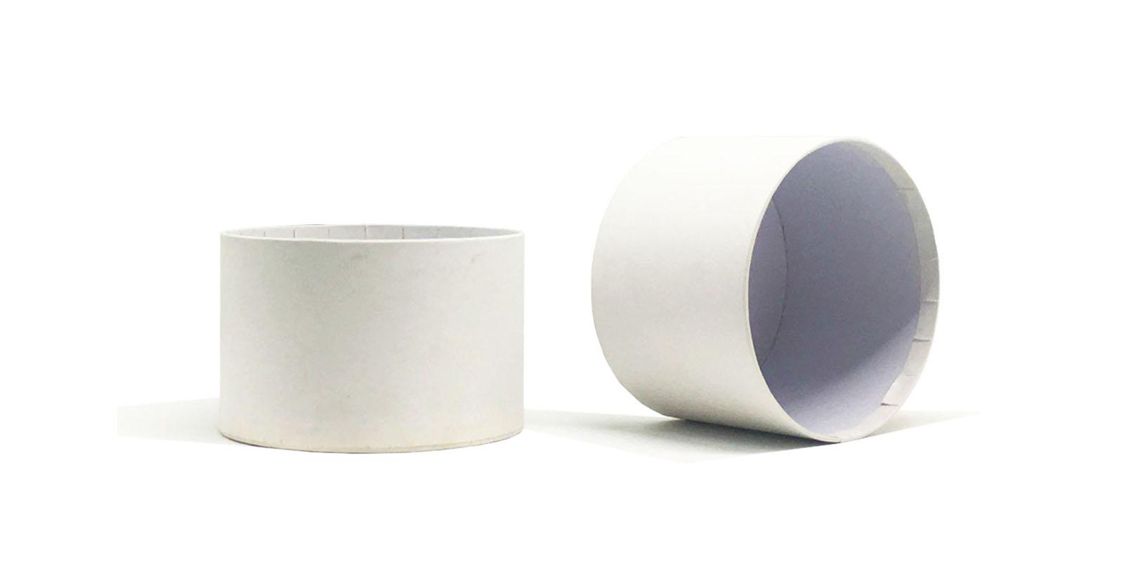 product-White paper card round box custom logo base and lid sturcture-Mingyi Printing-img