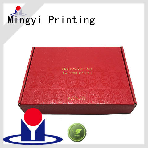 Mingyi Printing new design flat pack cardboard boxes customization for present
